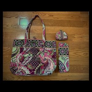 Vera Bradley bag with coin purse and cover